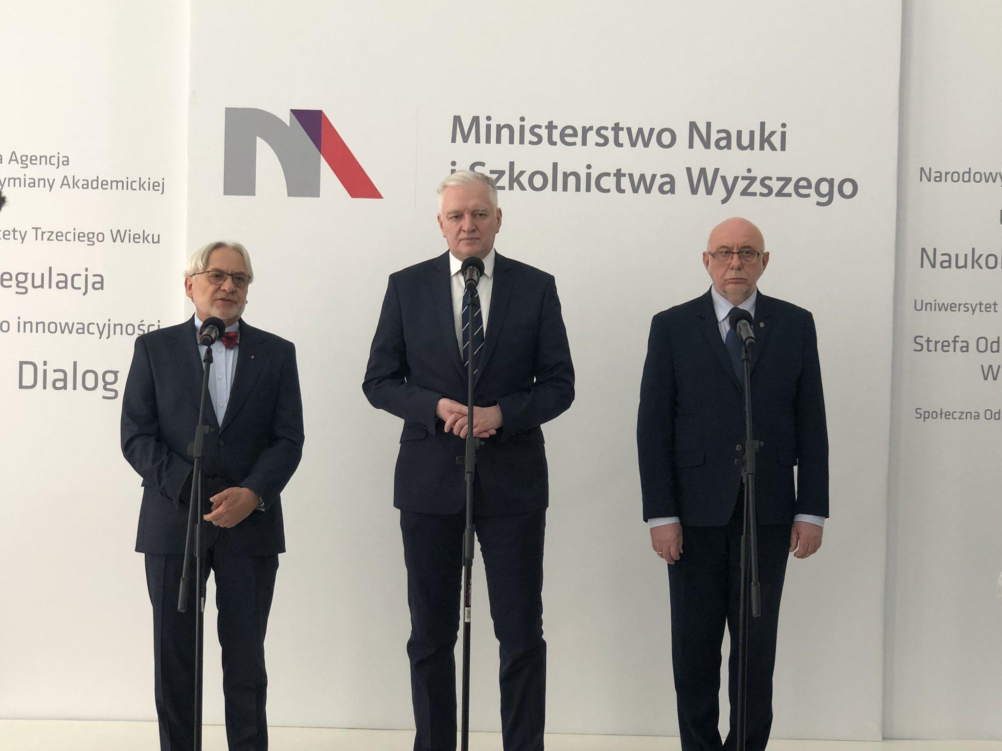 Konferencja z udziałem ministra Jarosława Gowina