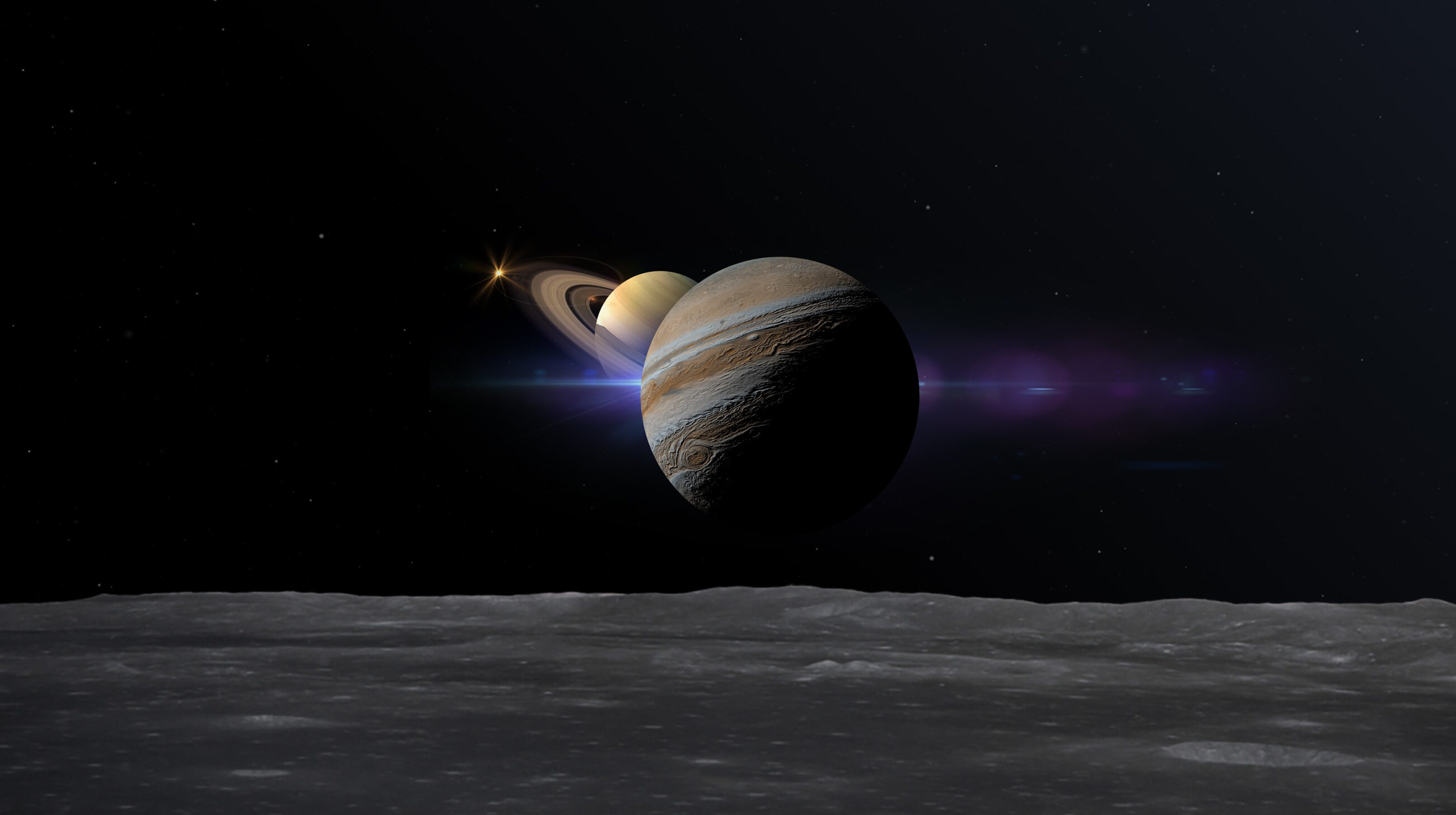 Koniunkcja Jowisza i Saturna, zdj. ilustracyjne