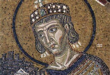 Konstantyn Wielki na bizantyjskiej mozaice