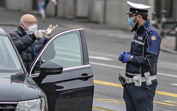 Kontrola uliczna w Bergamo