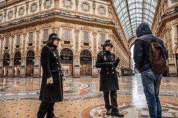 Kontrole na ulicach Mediolanu