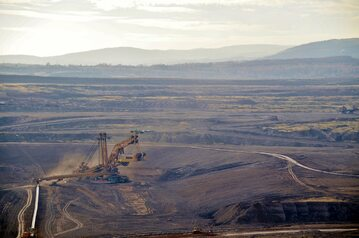 Kopania węgla brunatnego, zdjęcie ilustracyjne