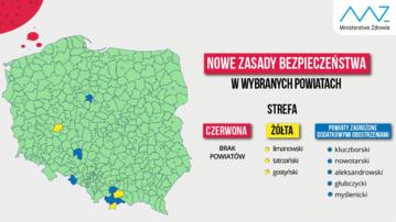 Koronawirus w Polsce. Strefy czerwone i żółte