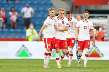Kozłowski, Świderski, Jóźwiak i Moder w meczu z Islandią