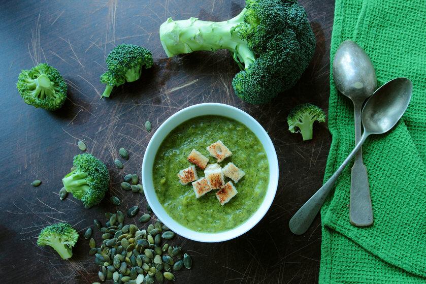 Krem z brokułów