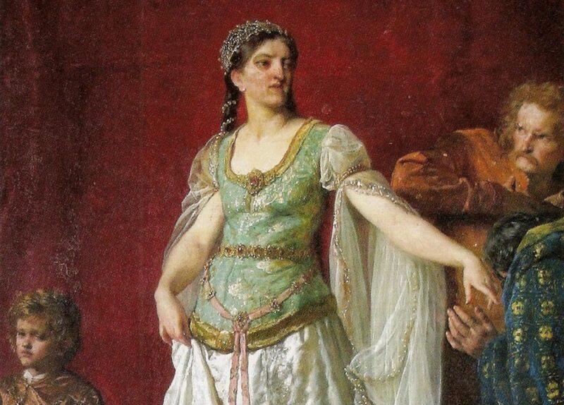Królowa Ryksa (Rycheza Loterańska) na obrazie Wojciecha Gersona z 1891 r.