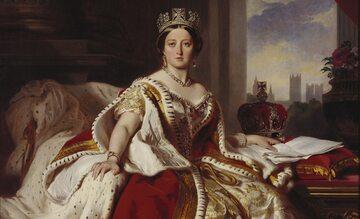 Królowa Wiktoria w stroju koronacyjnym
