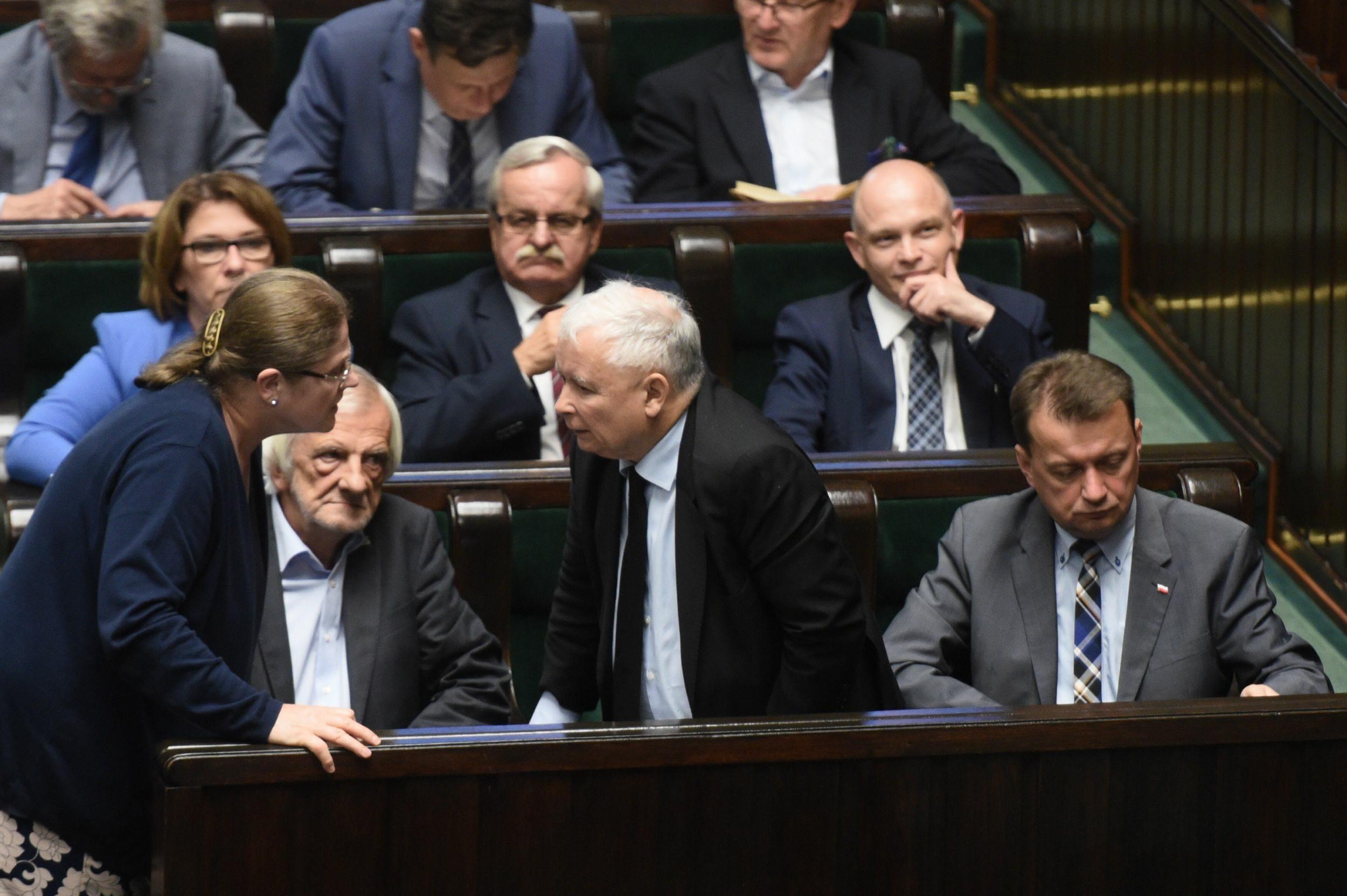 Krystyna Pawłowicz w rozmowie z Jarosławem Kaczyńskim