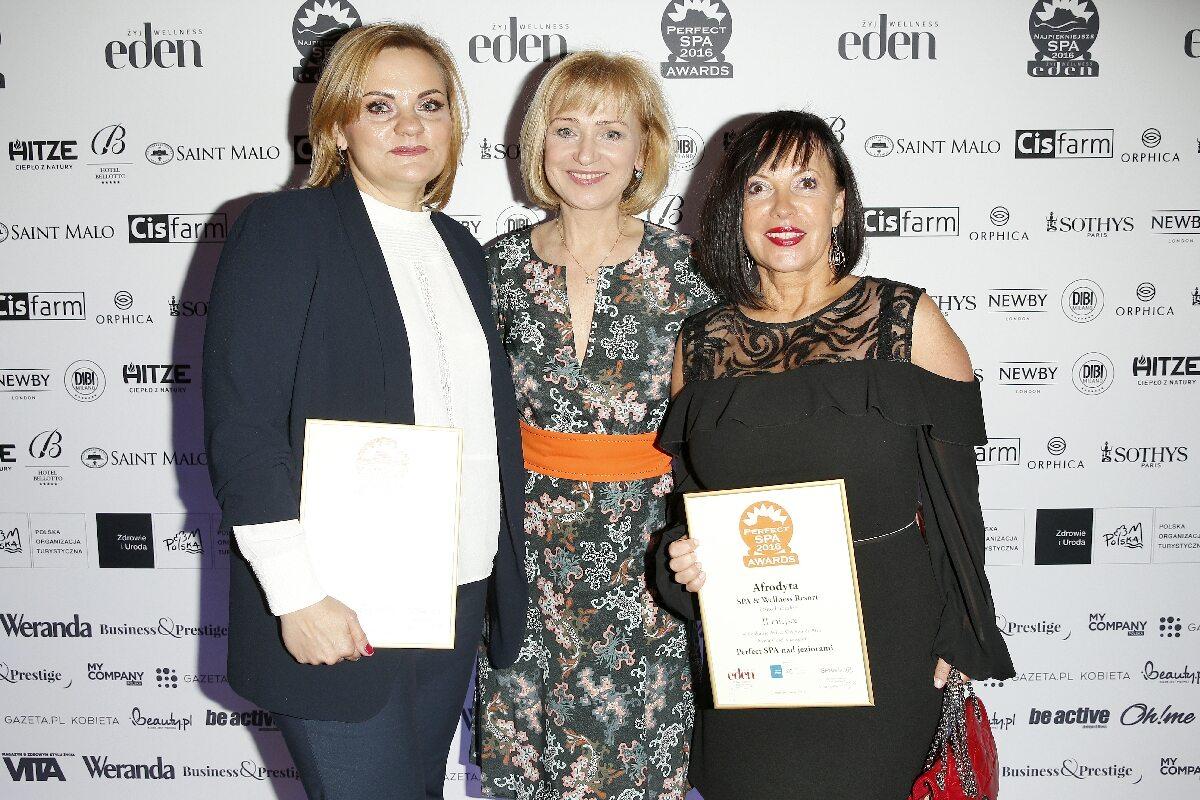 Krystyna Zmitrowicz dyrektor Afrodyty, Katarzyna Żak, Beata Łapińska prezes EBC