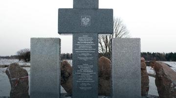 Krzyż pamięci w Hucie Pieniackiej