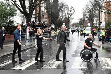 Książę Harry i Bon Jovi na Abbey Road