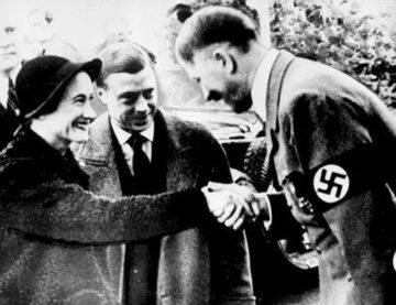 Książę i księżna Windsoru z Adolfem Hitlerem w 1937 roku