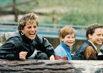 Księżna Diana, książę Harry i książę William