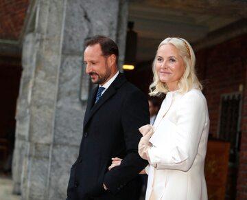 Księżna Norwegii Mette-Marit i jej mąż książę Norwegii Haakon