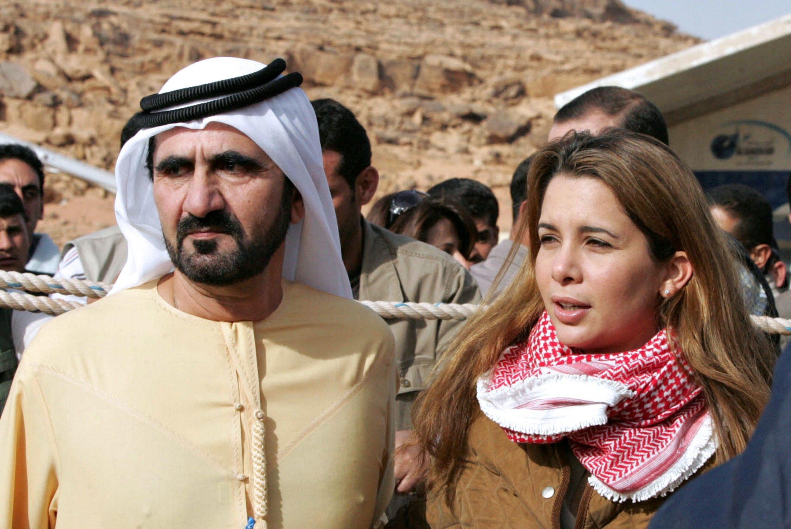 Księżniczka Haya Bint al-Husajn i jej mąż emir Dubaju Muhammad ibn Raszid Al Maktum