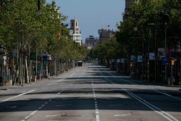Kwietniowy lockdown w Barcelonie