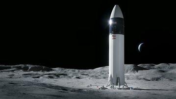 Lądownik na powierzchni Księżyca. Ilustracja