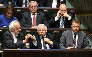 Ławy PiS przed głosowaniem nad ustawą o Sądzie Najwyższym