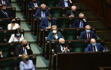 Ławy PiS w Sejmie