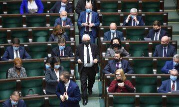 Ławy posłów i posłanek PiS w Sejmie