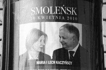 Lech Kaczyński z żoną