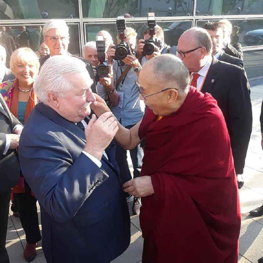 Lech Wałęsa i Dalajlama