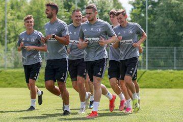 Legia Warszawa podczas treningu