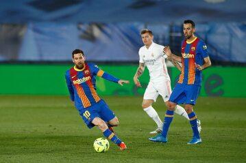 Leo Messi w meczu z Realem Madryt