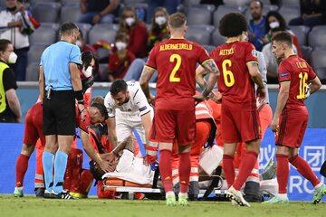 Leonardo Spinazzola w meczu z Belgią