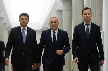 Liderzy opozycji - Władysław Kosiniak-Kamysz, Grzegorz Schetyna i Ryszard Petru