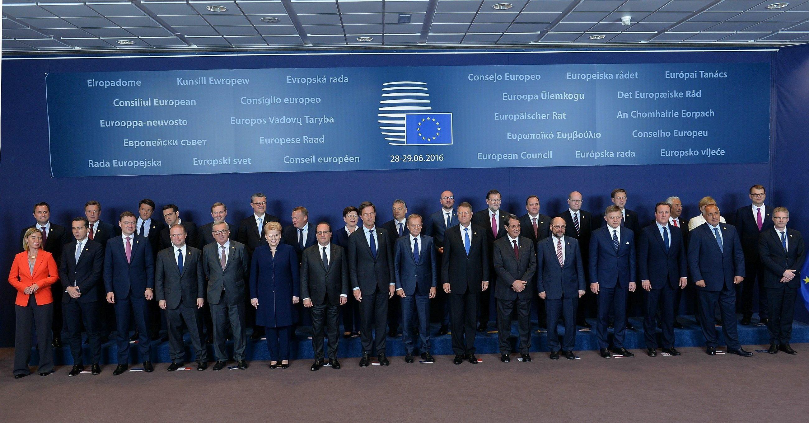 Liderzy unijni po czerwcowym szczycie w Brukseli