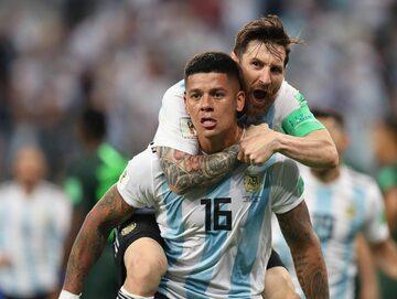 Lionel Messi i Marcos Rojo