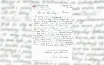 List pani Stanisławy