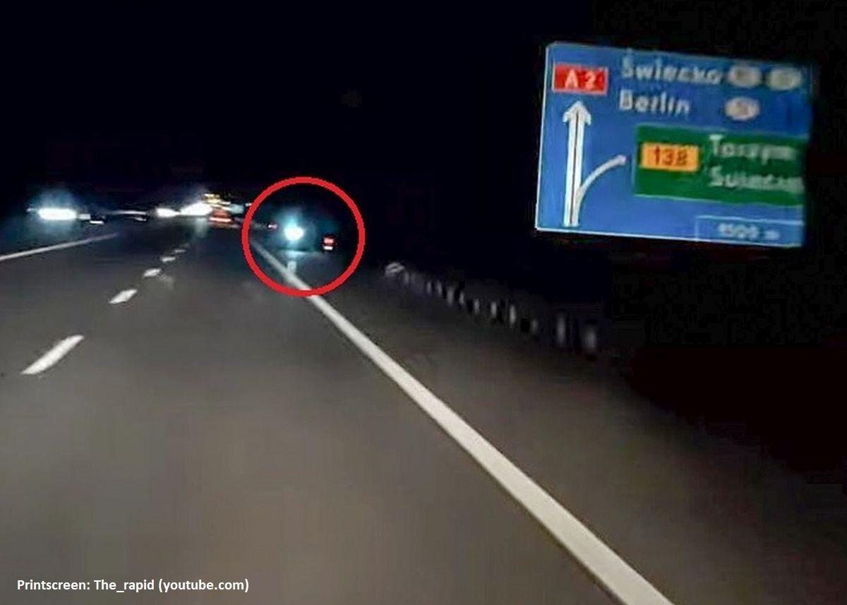 Litwin jechał autostradą pod prąd na hulajnodze
