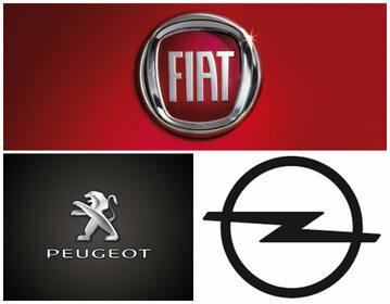 Logo Fiata, Peugeota i Opla