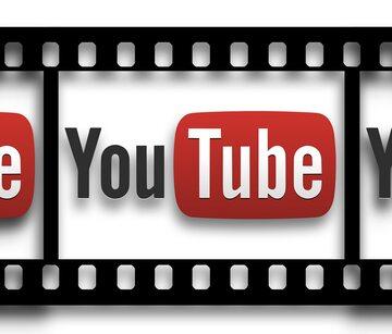 Logo YouTube w klatce filmowej