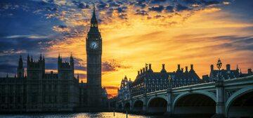 Londyn, widok na Big Bena i Westminster Bridge