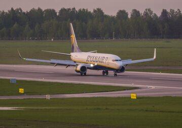 Lot Ryanaira z Aten do Wilna został przymusowo skierowany do Mińska na Białorusi