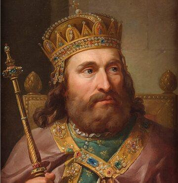 Ludwik Węgierski na XVIII-wiecznym obrazie Bacciarellego