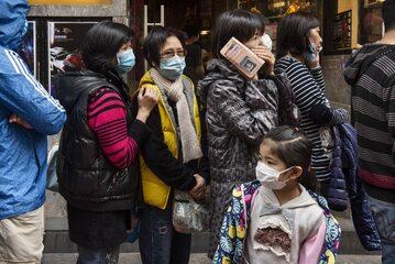 Ludzie na ulicy w Hongkongu
