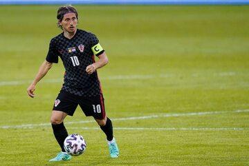 Luka Modrić w meczu z Belgią