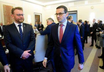 Łukasz Szumowski i Mateusz Morawiecki