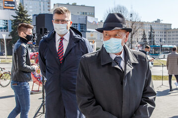 Maciej Warchoł i Tadeusz Ferenc podczas kampanii