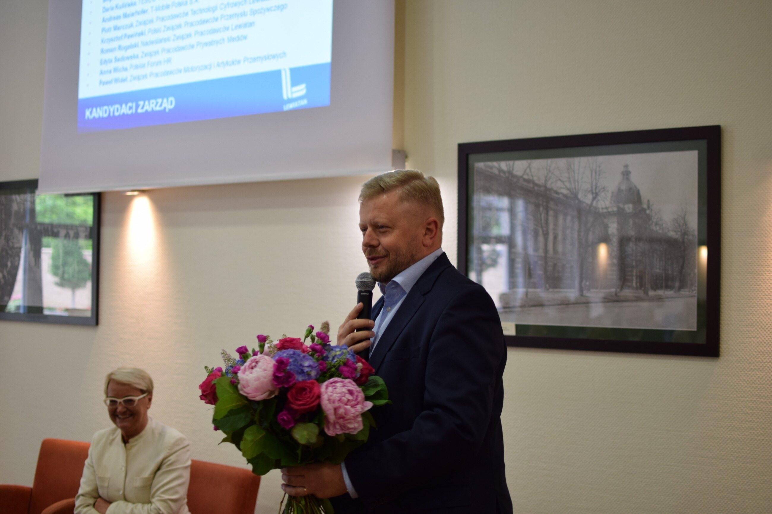 Maciej Witucki i Henryka Bochniarz
