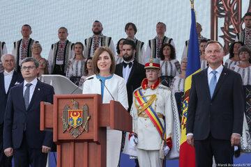 Maia Sandu i Andrzej Duda