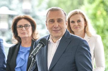 Małgorzata Kidawa-Błońska, Grzegorz Schetyna, Barbara Nowacka