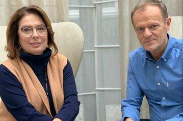 Małgorzata Kidawa-Błońska i Donald Tusk