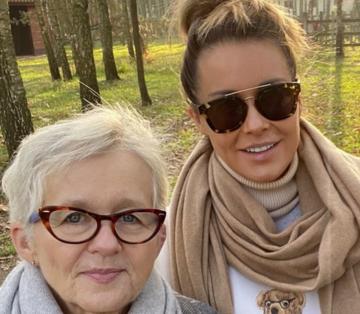 Małgorzata Rozenek z mamą