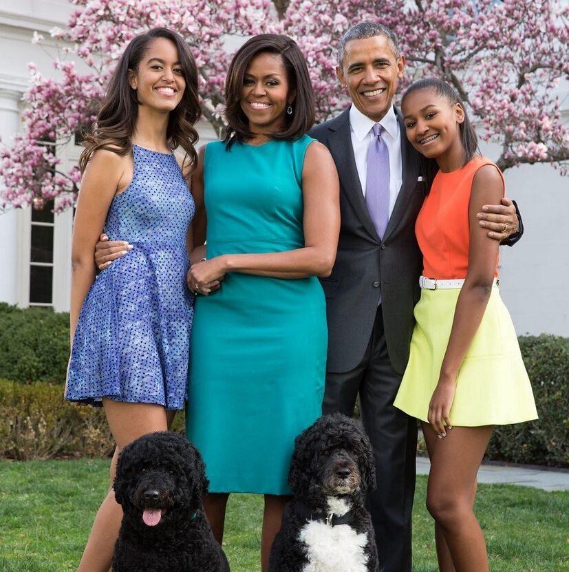 Malia Obama, Michelle Obama, Barack Obama i Natasha Obama