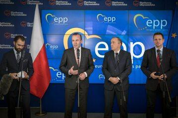 Manfred Weber, Grzegorz Schetyna i Rafał Trzaskowski